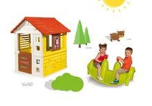 Set domček Máša a medveď Pretty Smoby so zasúvacou okenicou a obojstranná hojdačka Tuleň s vodotryskom od 2 rokov