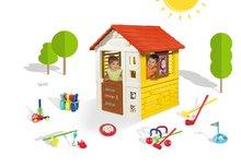 Set domček pre deti Máša a medveď Pretty Smoby so zasúvacou okenicou a športový set 7 hier od 2 rokov