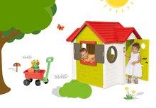 Smoby 810400-17 set domček My House s elektronickým zvončekom a vozík na ťahanie s vedro setom od 2 rokov