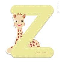 Drevené písmeno Z Sophie The Giraffe Janod lepiace 7 cm béžové
