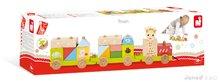 Ťahacie hračky - Drevený vláčik Sophie The Giraffe Janod s kockami od 18 mes_1