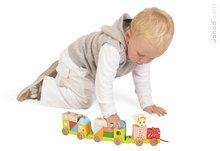 Ťahacie hračky - Drevený vláčik Sophie The Giraffe Janod s kockami od 18 mes_3