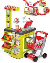 Kuchynky pre deti sety - Set kuchynka CookMaster Smoby so zvukmi a ľadom a obchod Supermarket s pokladňou_1