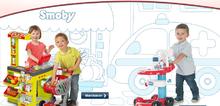 Obchody pre deti - Obchod City Shop Smoby s elektronickou pokladňou a vozíkom so 44 doplnkami_2