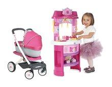 Kuhinje za djecu setovi - Set kuhinja Disney Princeze Smoby sa satom i kolica za lutku retro Maxi Cosi & Quinny 3u1 (65.5 cm ručka)_23
