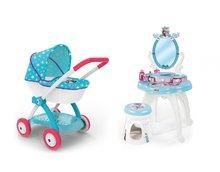 Kozmetické stolíky sety - Set kozmetický stolík Frozen Smoby so stoličkou a hlboký kočík pre bábiku Frozen (58 cm rúčka)_10