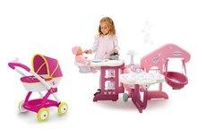 Domčeky pre bábiky sety - Set opatrovateľské centrum pre bábiku Baby Nurse Smoby a hlboký kočík Máša a medveď (58 cm rúčka) od 3 rokov_13