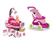 Kočíky pre bábiky sety - Set kočík pre bábiku Smoby športový (58 cm rúčka) a opatrovateľské centrum Baby Nurse s bábikou od 18 mes_16