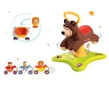 Set odrážadlo Máša a Medveď Smoby 2v1 skákajúci a točiaci sa a 3 autíčka Imagin Car Cotoons od 12 mesiacov