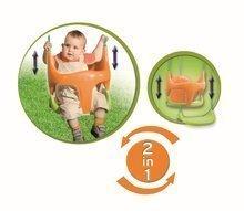 Hojdačka pre deti Bebe 2v1 Smoby s ohrádkou od 18 mesiacov