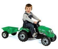 Dětská šlapací vozidla - Traktor na šlapání RX Bull Smoby s přívěsem zelený_0