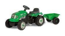 Dětská šlapací vozidla - Traktor na šlapání RX Bull Smoby s přívěsem zelený_5