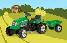 Dětská šlapací vozidla - Traktor na šlapání RX Bull Smoby s přívěsem zelený_7
