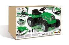Dětská šlapací vozidla - Traktor na šlapání RX Bull Smoby s přívěsem zelený_8