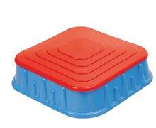Nisipare pentru copii - Nisipar Starplast în formă pătrată cu capac volum de 60 litri albastru-roşu de la 24 luni_0
