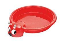 Detské pieskovisko Lienka Starplast objem 60 litrov od 2 rokov červené