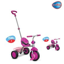 smarTrike 1380200 ultralehká růžovo-fialová tříkolka Fun s gumovými kolečky od 15 měsíců