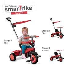 Trojkolky od 10 mesiacov - Trojkolka Carnival Red Touch Steering smarTrike 3v1 červeno-šedá od 10 mes_1