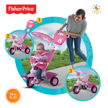 smarTrike 1570233 růžová tříkolka Fisher-Price Royal Pink od 10 měsíců