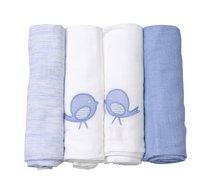 Bavlnené plienky toTs-smarTrike extra veľkosť 4 kusy 100% prírodná bavlna modré