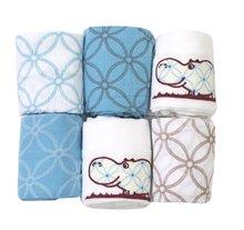 Bavlnené plienky toTs-smarTrike hroch 6 kusov 100% prírodná bavlna modré