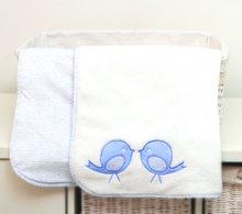 Obojstranná deka pre najmenších Classic toTs-smarTrike vtáčiky 100% jersey bavlna modrá