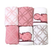 Bavlnené plienky toTs-smarTrike hroch 6 kusov 100% prírodná bavlna ružové