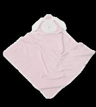 Osuška s kapucňou pre najmenších Classic toTs-smarTrike zajačik 100% prírodná velúr bavlna ružová