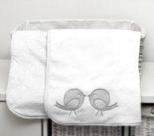 Obojstranná deka pre najmenších Classic toTs-smarTrike vtáčiky 100% jersey bavlna šedá
