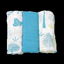 Bambusz babapólyák toTs-smarTrike fák 3 darab 100% bamboo selyem kék
