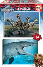 Puzzle pre deti Jurský svet Educa 2x48 dielov