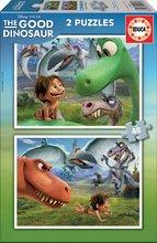 Detské puzzle do 100 dielov - Puzzle Dobrý dinosaurus Educa 2x 48 dielov_1