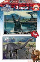 EDUCA 16340 PUZZLE CARDBOARD Jurassic World 2x100 dielikov