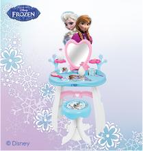 Staré položky - Kozmetický stolík Frozen Smoby so stoličkou a doplnkami modro-biely_0