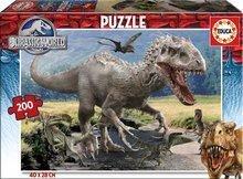 Puzzle gyerekeknek Jurassic World Educa 200 db 6 éves kortól