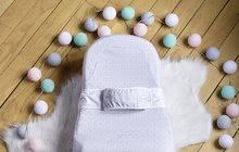 Hračky pre bábätká - Hniezdo na spanie Cocoonababy® pre bábätká Leaf Red Castle 0-4 mesiacov s doplnkami šedé s lístočkami_0