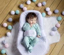 Hračky pre bábätká - Hniezdo na spanie Cocoonababy® pre bábätká Leaf Red Castle 0-4 mesiacov s doplnkami šedé s lístočkami_1