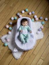 Hračky pre bábätká - Hniezdo na spanie Cocoonababy® pre bábätká Leaf Red Castle 0-4 mesiacov s doplnkami šedé s lístočkami_3