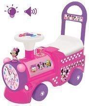 Babytaxiu Disney Minnies Kiddieland electronic roz locomotivă cu efecte de lumini şi sunete de la 12 luni