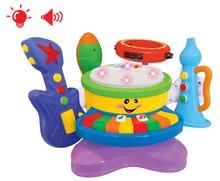 Set muzical Activity 6in1 Kiddieland cu instrumente muzical, cu efecte sonore şi de lumini de la 18 luni