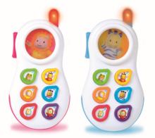 Staré položky - Telefón Cotoons Smoby so zvukmi ružový od 6 mes_1