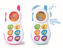 Staré položky - Telefón Cotoons Smoby so zvukmi ružový od 6 mes_2