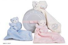 Hračky na maznanie a usínanie - Plyšový medvedík na maznanie Perle-Hug Doudou Kaloo 32 cm v darčekovom balení pre najmenších krémový_0