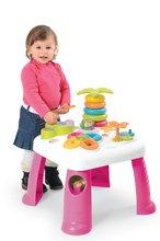 SMOBY 211170 ružový didaktický stolík so svetlom a zvukom Cotoons od 12 mesiacov