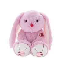 Plyšový zajac Rouge Kaloo Medium 31 cm z jemného plyšu pre najmenšie deti ružovo-krémový