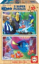 Dřevěné puzzle Hledá se Nemo Educa 2x25 dílů od 24 měsíců