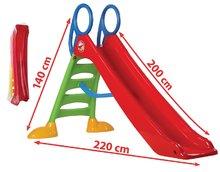 DOHÁNY 2085-1 Šmykľavka veľká 2 m červená, od 3 rokov,110*220*140 cm výška