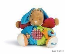 Plüss nyuszi csörgővel és csigával Colors-Chubby Rabbit Apple Kaloo 30 cm ajándékcsomagolásban legkisebbeknek