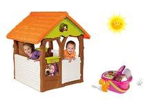 Set domček pre deti Máša a medveď Smoby s kvetináčom a piknikový košík s riadom od 2 rokov