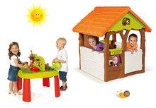 Set domček pre deti Máša a medveď Smoby s kvetináčom a stôl Záhradník De Jardinage od 2 rokov
